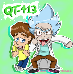 QT-413 Rick And Morty by TheTrippyTippy
