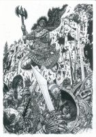Slaine - The Salmon Leap by adeh20