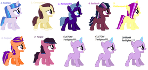MLP Shipping Adopts Sheet 1: Twilight by rustics