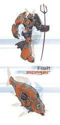 Fish-Monger commission by a-loft-on-cybertron