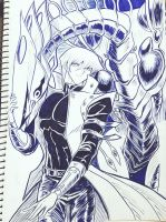Kaiba And Deep-Eyes by Ycajal