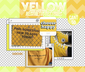 YELLOW AESTHETIC TEXTURES by SabDesings