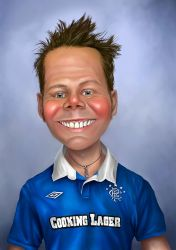 Caricature for 40th birthday by JohnMalcolm1970