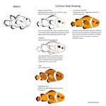 Cartoon or Comic Style Tutorial (Clown Fish) by ResultsOfMonopoly