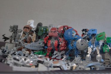 Custom Bionicle Character line up by JoshJenkins6