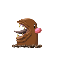 Diglett With Mouth