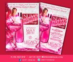 Nuvo haute pink Party flyer