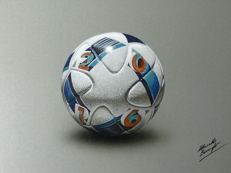 Drawing Uefa Euro 2016 official match ball by marcellobarenghi