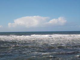 Cloud and Surf by ohallford
