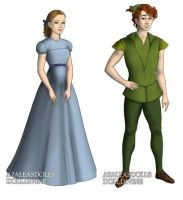 Wendy And Peter Pan (Peter Pan) outfits by sarasarit