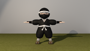 Mini Ninja WIP by brektzar
