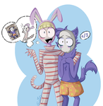 popee and kedamono by tctwig