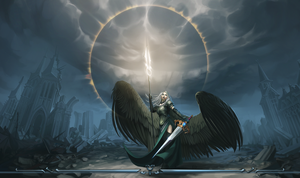 Avacyn - Angel of Vengeance - PLAY MAT by entroz