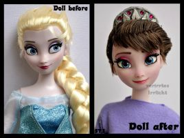 repainted ooak frozen queen idun of arendelle. by verirrtesIrrlicht