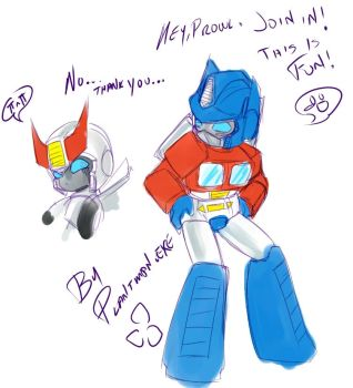 TF - Optimus Prime Macarena by plantman-exe