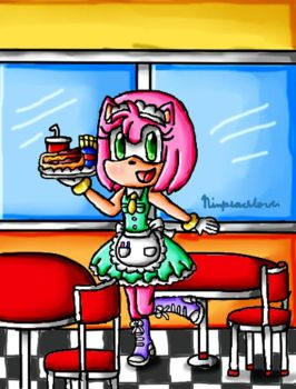 Waitress Amy by ninpeachlover