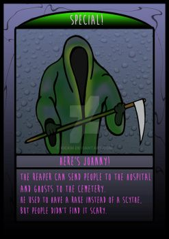 The Frighteners Card 9 - The Reaper by kickm