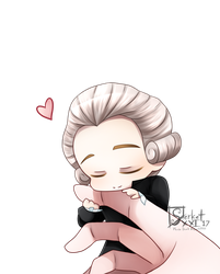 + Chibi Lavoisier and Your Hand + by SerketXXI