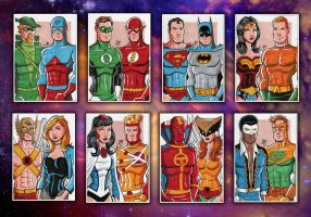DC Sketch Cards by calslayton