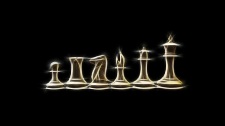 Chess pieces by nogrox