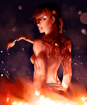 Red Lotus Korra by Ma-rin