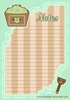 Mint Choc Chip Notepad by QuirkishDelight