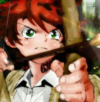 The promised Neverland Chapter 51 Emma Battle by Amanomoon