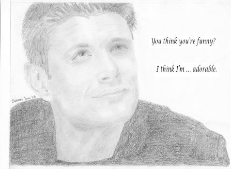 Dean Winchester-Jensen Ackles by TheDrawnDen93