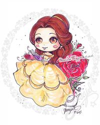 Belle Beauty and the Beast by StarMasayume