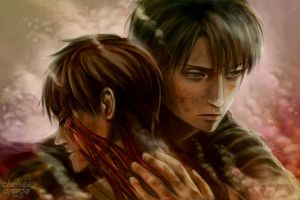 Eren and Levi by munette