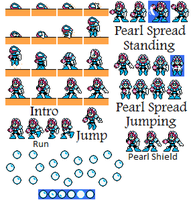 New Pearl Woman Sprite Sheet by hfbn2