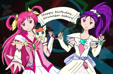 PreCure Fanart: Happy Birthday 2012 (take 3) by Ponyta