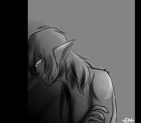 All Alone -Doodle- by Emselada