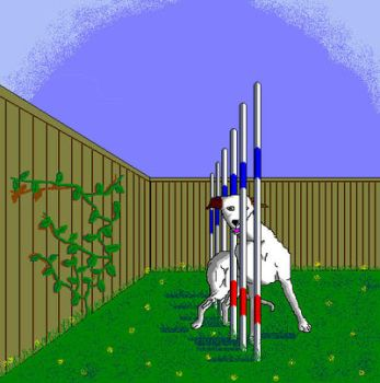 'Weave Pole Greyhound' in MS Paint by Cecilia-Schmitt
