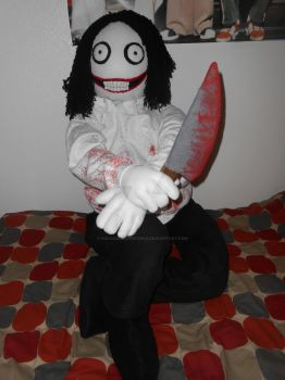 Commission: Life Size Jeff the Killer Plush by KaleidoscopicFungi