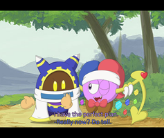 Marx and Magolor Screenshot by Candy-Swirl