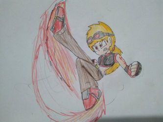 Claudia's Kick by SuperMario1792