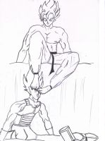 Goku Dominates Vegeta by gokufeet