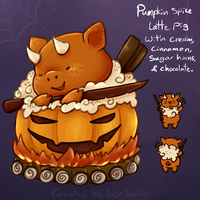 HMT- 24th day [Pumpkin Slice] by scribblin