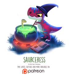 Day 1427. Saurceress by Cryptid-Creations