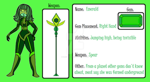 GEM ADOPT: Emerald for BossSwagMaster by DarkPrincess116