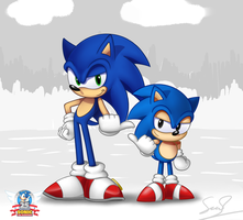 Sonic 25th Anniversary (Alt. Ver.) by sheandog