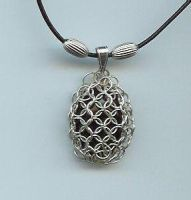 Chain maille necklace by allatar