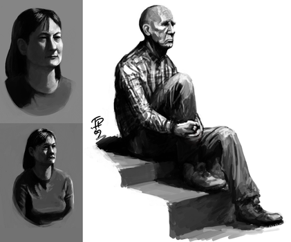 Life 4 OC sketches by Pyrosity