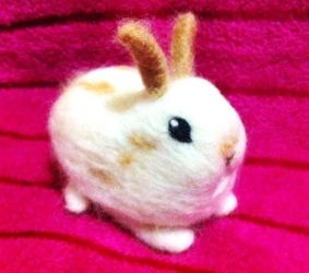 Needle Felted Honey the Baby Bunny! by StarlitCutesies