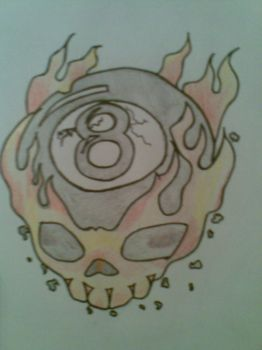 flame skull by boh-slayer666