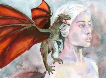 Daenerys, Game of Thrones by kleopetra007