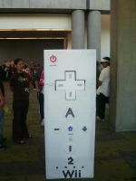 Fanime '07 Wii Remote by Unicornmon