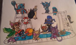Yordle Pool Party by Tiera-The-Yordle