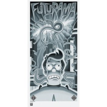 Futurama Beast with a Billion Backs Fry Lithograph by TheDaggersTip